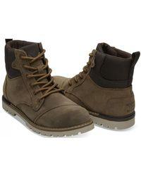 TOMS - Ashland Waterproof Suede Hiker Boots - Lyst