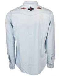 Deus Ex Machina - Vintage Western Shirt In Light Blue - Lyst