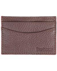 Barbour - Men's Leather Grain Card Holder - Lyst