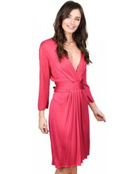 Issa - London V-neck Orchid Pink Dress - Lyst