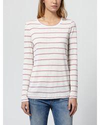 INTROPIA - Striped Silk T Shirt - Lyst