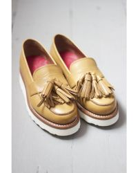 Grenson - Clara Tan Leather Loafer - Lyst