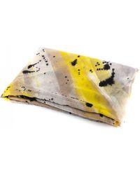 Dianora Salviati - Ocra Grey/yellow Cashmere Scarf - Lyst