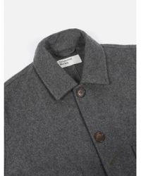 Universal Works - Bakers Jacket Long In Mowbray Charcoal - Lyst