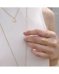 Rachel Jackson - London Hexagon Outline Ring - Lyst