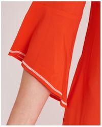Jucca - Short Sleeves Long Dress In Orange - Lyst