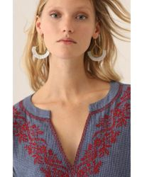 Nice Things - Embroidered Navy Top - Lyst