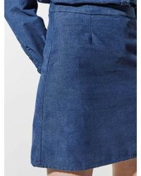 Great Plains - Needle Cord Skirt In Indigo - Lyst