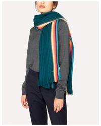 PS by Paul Smith - Paul Smith Artist Stripe Band Merino Wool Scarf - Lyst