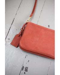 Vanessa Bruno Athé - Lune Ginger Small Calfskin Leather 2-zip Bag - Lyst