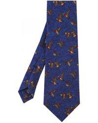 Jules B - 1160624 Silk Bird Print Tie - Lyst