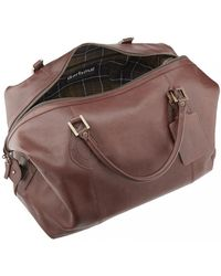 Barbour - Leather Medium Travel Explorer Bag - Lyst