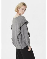 SELECTED - Frilla Long Sleeve Knitted Jumper - Lyst