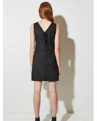 Great Plains - Suedette Dress In Black - Lyst