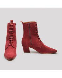 Miista - Zelie Merlot Suede Boots - Lyst