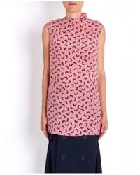 Marni - Long Sleeveless Printed Top - Lyst