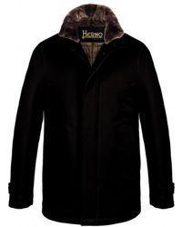 Herno - Men's Car Coat Ca0077u In Black - Lyst