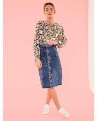 Suncoo - Louise Floral Blouse - Lyst