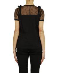RED Valentino - Black T-shirt - Lyst