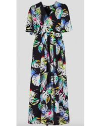 Pyrus - Dahliah Maxi Dress In Watercolour Print - Lyst