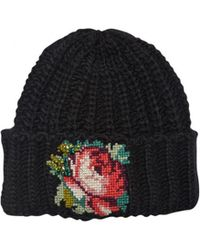 Rada' - Hand Embroidered Cable Knit Beanie - Lyst