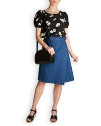 M.i.h Jeans - M.i.h Jeans Ria Cotton Chambray Skirt - Lyst