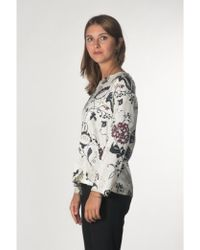 Momoní - Printed Blouse In White - Lyst