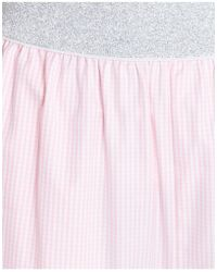 I'm Isola Marras - Checked Silver Band Trousers In Pink - Lyst