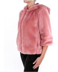 Manila Grace - Fur Coat In Pink - Lyst
