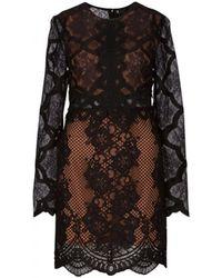Kendall + Kylie - Black Lace Dress Kcfa17101dw - Lyst