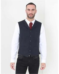 Gibson - Spotted Jaquard Waistcoat - Lyst