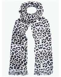 Lily and Lionel - Big Cat Jaguar Printed Silk Scarf - Lyst