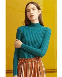 Stine Goya - Erika Ribbed Emerald Knit - Lyst