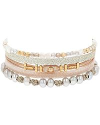 Chan Luu - Multi Strand Grey Pearl Mix Bracelet - Lyst