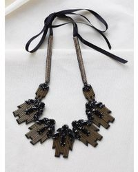 INTROPIA - 5903.924 Necklace In Black - Lyst