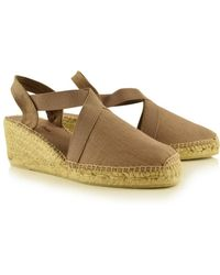 Toni Pons - Ter Linen Espadrille Wedge In Taupe - Lyst