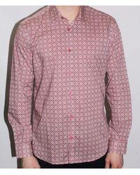 Poggianti - Campania Shirt In Pink Art Deco Inspired Print - Lyst
