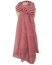 Atterley - Red Striped Scarf - Lyst
