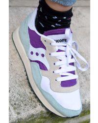 Saucony - Dxn Vintage White Purple & Light Blue Trainers - Lyst