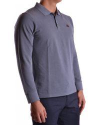 Burberry - Men's Mcbi056065o Grey Cotton Polo Shirt - Lyst
