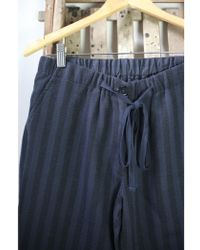 Leon & Harper - Pilat Ardoise Navy Stripe Trousers - Lyst