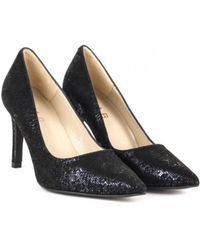 Elia B - Danni Heels In Black Shimmer - Lyst
