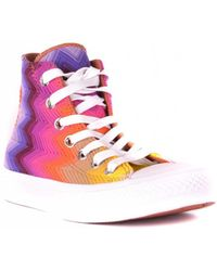 Missoni - Printed High Top Trainers - Lyst