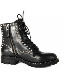 Ash - Wolf Biker Boots Black Leather & Silver Studs - Lyst