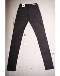 Denham - Needle Black High Rise Skinny Jeans - Lyst