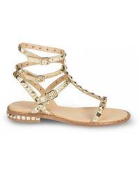 Ash - Poison Studded Sandals Rocher Gold Leather & Gold Studs Sandals - Lyst