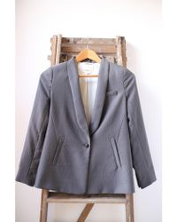 Bellerose - Elle Grey Satin Jacket - Lyst