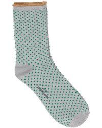 Becksöndergaard - Dina Dot Sock In Pepper Green - Lyst