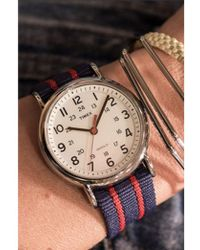 Timex - Weekender Central Park Red & Blue Watch - Lyst