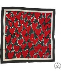 Boutique Moschino - Heart Print Scarf - Lyst